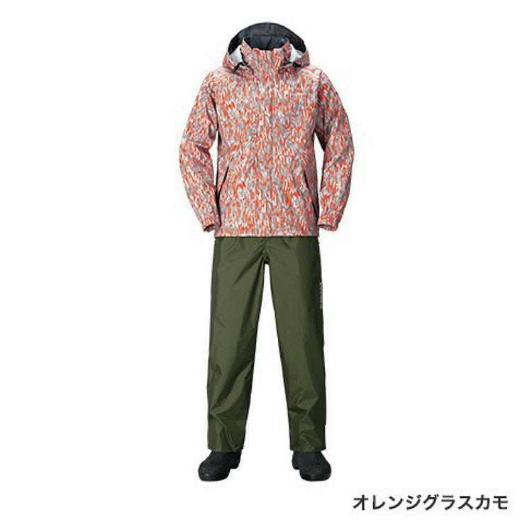 シマノDSベーシックスーツ RA-027Q オレンジグラスカモ XS