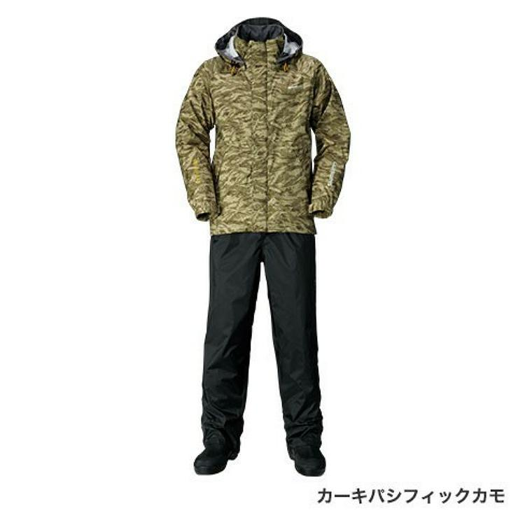 シマノDSベーシックスーツ RA-027Q カーキパシフィックカモ M