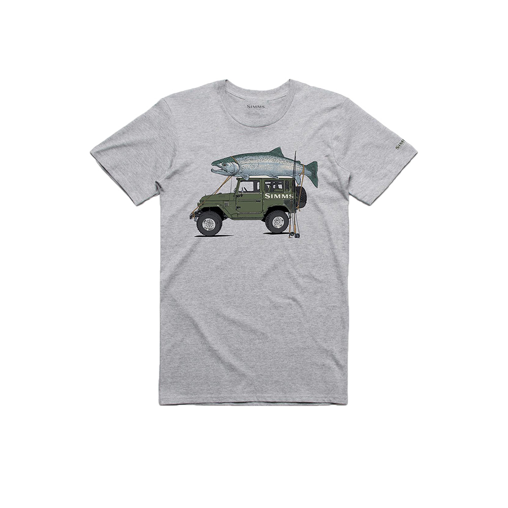 TROUT CRUISER T-SHIRT GREY HEATHER